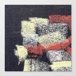Multicolor abstract black Canvas Print