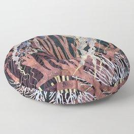 Metallic Coral Floor Pillow