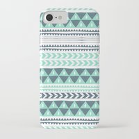 stripe iPhone & iPod Cases featuring Winter Stripe by Alice Rebecca Potter