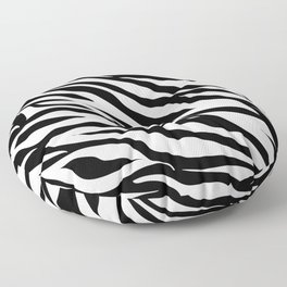 modern safari animal print black and white zebra stripes Floor Pillow