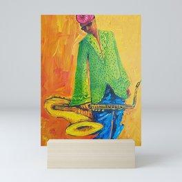 Saxophonist Mini Art Print