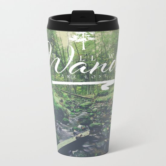Mountain of solitude - text version Metal Travel Mug