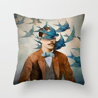 Throw Pillows featuring The Tempest by Christian Schloe