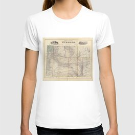 Vintage Map of Wyoming (1883) T-shirt