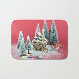 Christmas cupcake Bath Mat