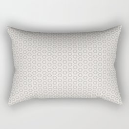 Hexagon Light Gray Pattern Rectangular Pillow