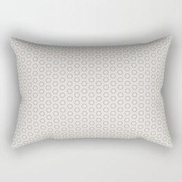 Hexagon Light Gray Pattern Rectangular Pillow