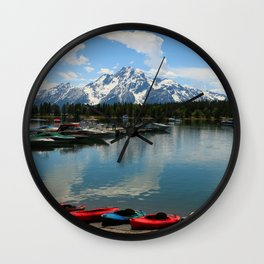 Beautiful Summerday At Colter Bay Wall Clock