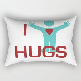 I heart Hugs Rectangular Pillow