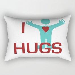 I heart Hugs Rectangular Pillow