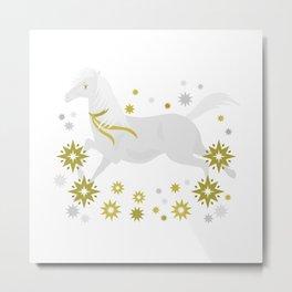 Xmas Horsey Metal Print