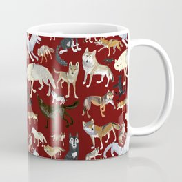 Wolves of the world Red Version Coffee Mug
