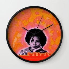 bell hooks retro print Wall Clock