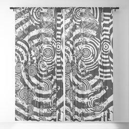 Circle Glitch Sheer Curtain