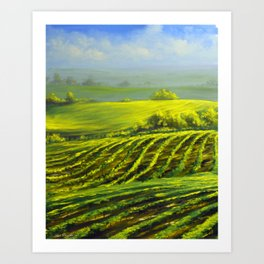 Barossa valley Art Print