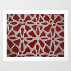 Red Stone Path Art Print