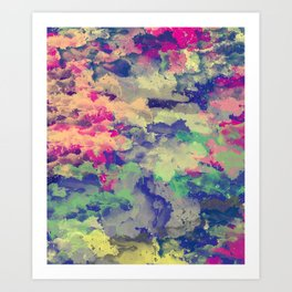 Abstract painting X 0.3 Art Print
