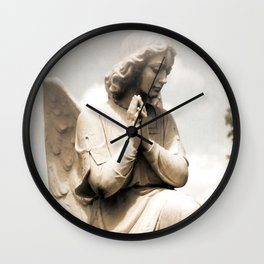 Angel Praying Guardian Angel Solitude Peaceful Angel Home Decor Wall Clock