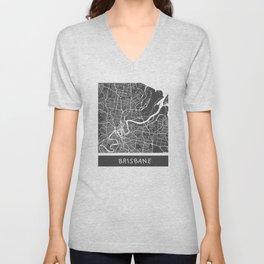 Brisbane Map orange Unisex V-Neck