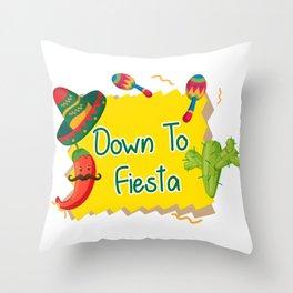 Down To Fiesta Cinco De Mayo Throw Pillow