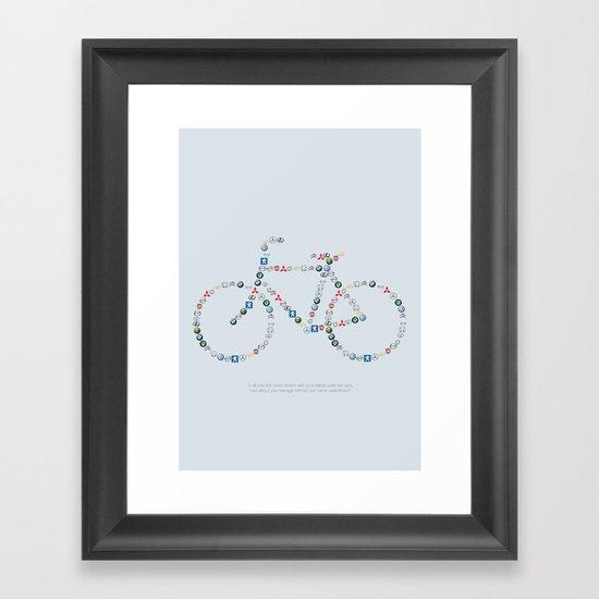 Free the bike lanes! Framed Art Print