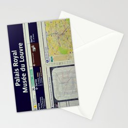 Louvre Museum - Metro sign - Paris underground - Travel photography Stationery Cards