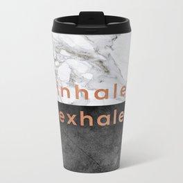 Inhale Exhale Copper Metal Travel Mug