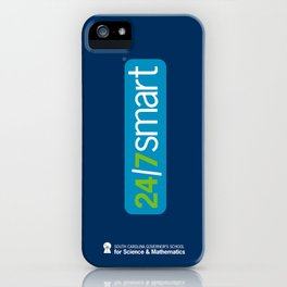 24/7 SMART on blue iPhone Case