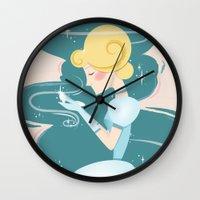 cinderella Wall Clocks featuring Cinderella by LindseyCowley