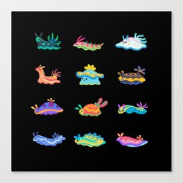 Sea slug - black Canvas Print