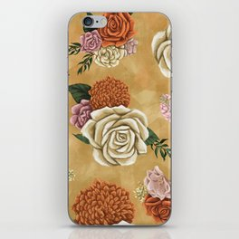 Gold luxury floral iPhone Skin
