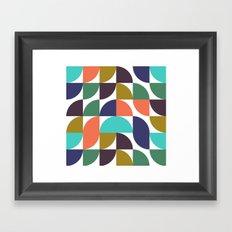 mod geo pattern Framed Art Print