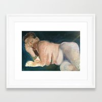 helen Framed Art Prints featuring Helen by Lianna Rai