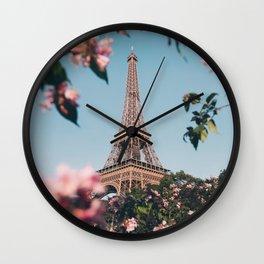 Paris in spring #society6 #decor #buyart Wall Clock