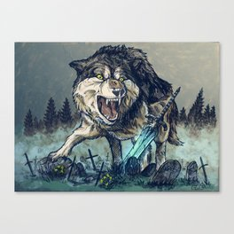 Sif, the Great Grey Wolf Canvas Print