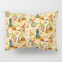 Midcentury Modern Tiki Pillow Sham