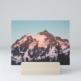 Pink Cascade Mountain Mini Art Print
