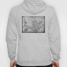 Vintage Map of Cincinnati Ohio (1838) BW Hoody