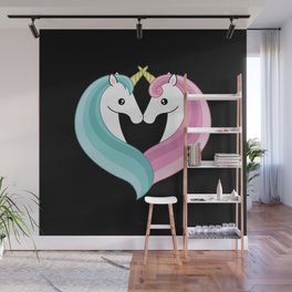 Unicorn heart Wall Mural