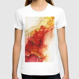 Golden Flames Abstract Ink - Part 2 T-shirt