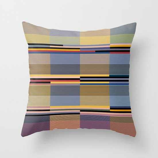 Subdued Lines Throw Pillow