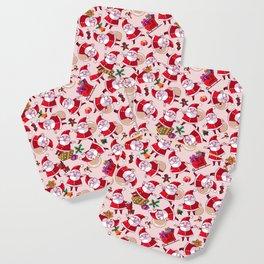 Santa Gift Pattern Coaster