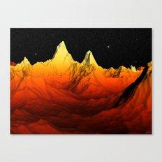 Sci Fi Mountains Landscape Canvas Print