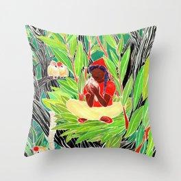 Bird woman Throw Pillow