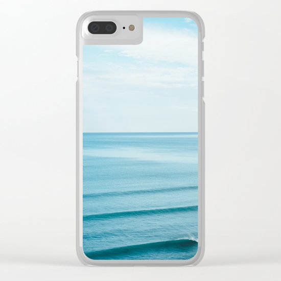 Pretty Waves Clear iPhone Case