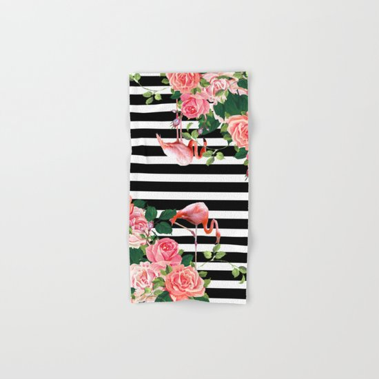 tropical flamingo Hand & Bath Towel