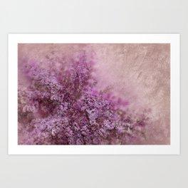 Lilac Splash Art Print