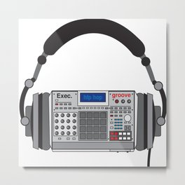 Executive Groove Sampler-Head [ MPC Only ] Metal Print
