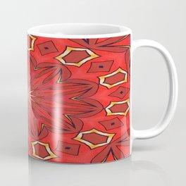 Shades of Red Bold Kaleidoscope Pattern Coffee Mug