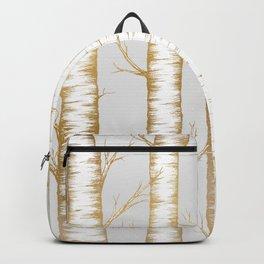 Metallic Birch Trees Backpack